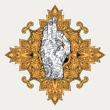 Mystical Palm of Shiva - Mystische Handfläche Shivas